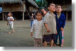 asia, asian, childrens, horizontal, laos, people, poverty, river village, villages, photograph