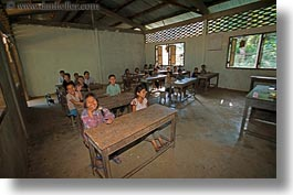asia, asian, childrens, classroom, emotions, horizontal, laos, people, poverty, river village, smiles, villages, photograph