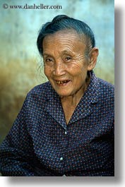 asia, asian, emotions, laos, old, people, poverty, river village, senior citizen, smiles, smiling, vertical, villages, womens, photograph