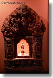 asia, big, frames, kathmandu, museums, nepal, small, statues, vertical, photograph