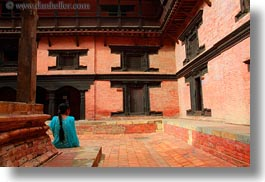 asia, blues, courtyard, horizontal, kathmandu, museums, nepal, womens, photograph