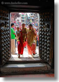asia, doors, kathmandu, museums, nepal, open, vertical, womens, photograph