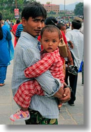 asia, carrying, fathers, kathmandu, men, nepal, pashupatinath, sons, vertical, photograph