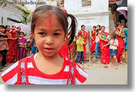 asia, girls, hindu, horizontal, kathmandu, nepal, pashupatinath, religious, shirts, sindoor, striped, tikka, womens, photograph