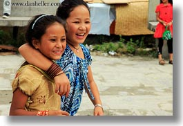 asia, emotions, girlfriends, horizontal, kathmandu, nepal, pashupatinath, smiles, womens, photograph