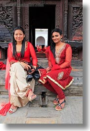 asia, emotions, girlfriends, kathmandu, nepal, nepalese, pashupatinath, smiles, teenage, vertical, womens, photograph