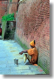 asia, bricks, kathmandu, nepal, pashupatinath, vertical, walls, womens, photograph