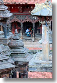 asia, cloisters, kathmandu, lovers, men, nepal, patan darbur square, vertical, photograph