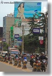 asia, billboards, kathmandu, motorcycles, nepal, streets, vertical, photograph