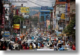 asia, congestion, horizontal, kathmandu, nepal, streets, traffic, photograph