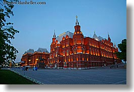 asia, buildings, dusk, historical museum, horizontal, long exposure, moscow, museums, russia, photograph