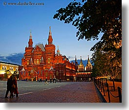 asia, buildings, dusk, historical museum, horizontal, moscow, museums, russia, photograph