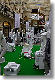 asia, buildings, golf, mannequins, moscow, russia, rym shopping mall, vertical, photograph