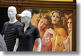 asia, buildings, horizontal, mannequins, models, moscow, russia, rym shopping mall, photograph