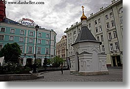 asia, buildings, churches, horizontal, little, marriott, moscow, russia, photograph