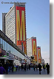 asia, banners, buildings, may, moscow, russia, vertical, photograph