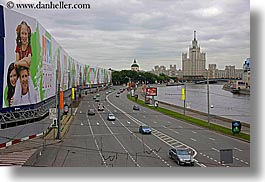 asia, billboards, city scenes, highways, horizontal, moscow, rivers, russia, traffic, transportation, photograph
