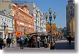 arbat, asia, city scenes, horizontal, lamp posts, moscow, old, russia, photograph