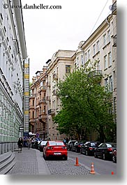 asia, buildings, cars, city scenes, moscow, russia, trees, vertical, photograph