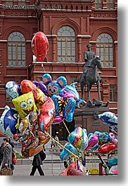 asia, balloons, moscow, russia, statues, vertical, photograph