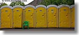 asia, chairs, green, horizontal, moscow, panoramic, portable, russia, toilets, yellow, photograph