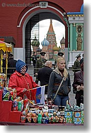 asia, churches, gifts, groups, moscow, people, russia, st basil, vertical, photograph
