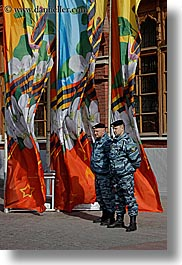 asia, flags, men, military, moscow, people, russia, vertical, photograph