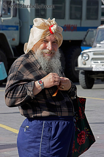 old russian man w white beard