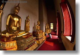 asia, bangkok, buddhas, center, horizontal, narathhip, narathip center, thailand, photograph