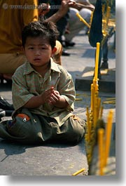 asia, bangkok, boys, people, sitting, thailand, vertical, photograph