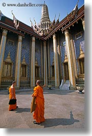 asia, bangkok, monks, people, thailand, vertical, photograph