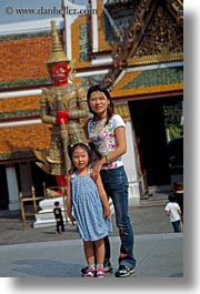 asia, bangkok, daughter, mothers, people, thailand, vertical, photograph