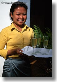 asia, bangkok, champagne, people, serving, thailand, vertical, womens, photograph
