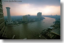 asia, bangkok, cityscapes, horizontal, river bank, rivers, thailand, photograph