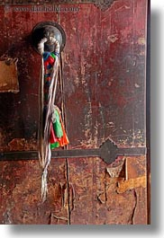 asia, asian, cloths, doors, lhasa, ropes, style, tibet, vertical, woods, photograph