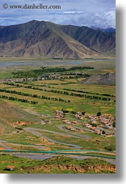 asia, ganden monastery, landscapes, lhasa, roads, tibet, valley, vertical, views, winding, photograph