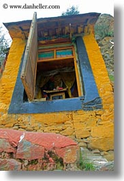 asia, ganden monastery, lhasa, tibet, vertical, windows, photograph