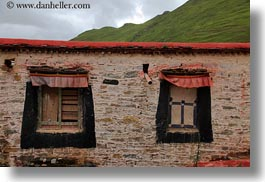 asia, ganden monastery, horizontal, lhasa, tibet, windows, photograph