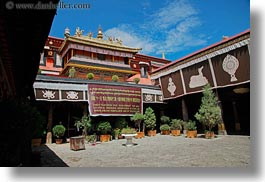 asia, buddhist, courtyard, horizontal, jokhang temple, lhasa, religious, temples, tibet, photograph