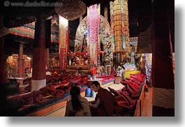 asia, buddhist, horizontal, jokhang temple, lhasa, prayers, religious, rooms, temples, tibet, photograph