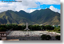 asia, clouds, communist, horizontal, landscapes, lhasa, monument, nature, sky, tibet, photograph