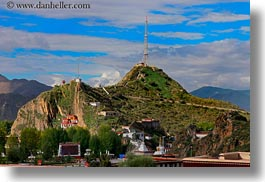 asia, clouds, horizontal, landscapes, lhasa, nature, radios, sky, tibet, towers, photograph