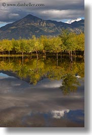 asia, clouds, lakes, landscapes, lhasa, mountains, nature, reflections, tibet, trees, vertical, water, photograph