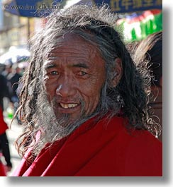 asia, lhasa, men, old, people, smiling, tibet, vertical, photograph