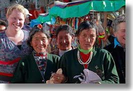 asia, emotions, horizontal, kate, lhasa, people, smiles, tibet, tibetan, womens, photograph