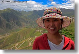 asia, horizontal, landscapes, lhasa, people, tibet, tibetan, womens, young, photograph
