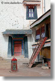 asia, doors, ladder, lhasa, potala, tibet, vertical, photograph