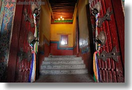 asia, doors, glow, horizontal, lhasa, lights, potala, tibet, photograph