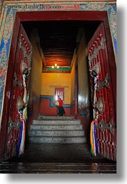 asia, doors, glow, lhasa, lights, potala, tibet, vertical, photograph