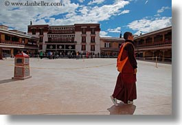 asia, horizontal, lhasa, monks, potala, tibet, photograph
